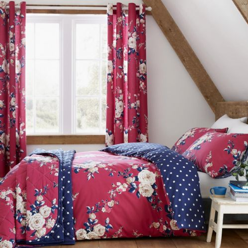 Catherine Lansfield Canterbury Plum Bedding Set